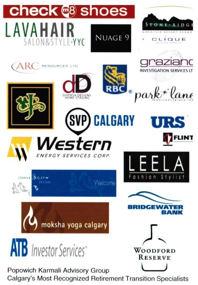 ECO GLAM 2013 Sponsors