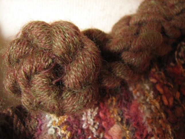 hand twisted wool edging detail