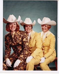 Stampede Queen Diane Leech and the Princesses in 1968 - outfits by Elfriede