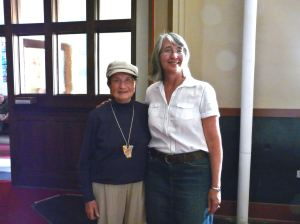 Elfriede with Jennifer Hamblin, Author at Jennifer's talk and book signing