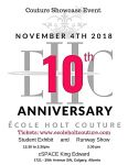 Happy 10th Anniversary Ecole HoltCouture!